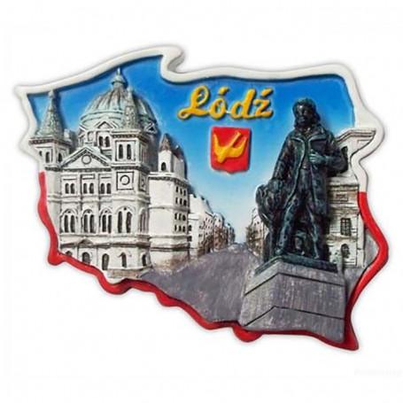 Magnes kontur Łódź plac Wolności