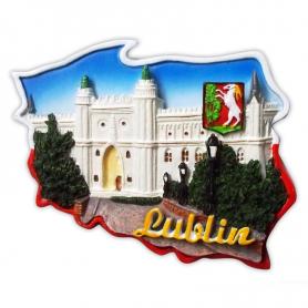 Fridge magnet, Poland shaped, Lublin Castle