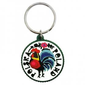 Porte-clés en caoutchouc - Coq Lowicz