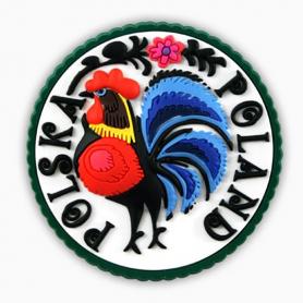 Rubber fridge magnet Poland cock