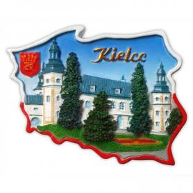 Fridge magnet, Poland shaped, Kielce Palace of Bishops