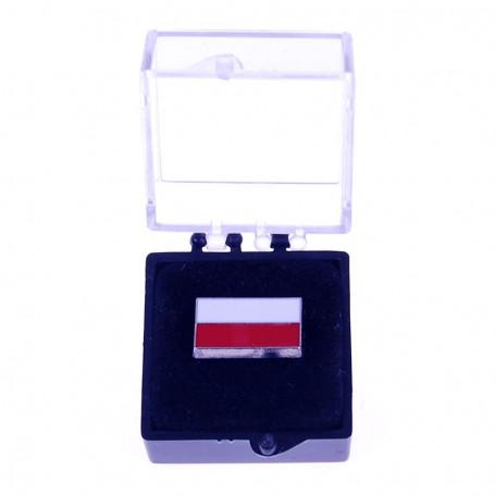 Przypinka, pin flaga Polski, prosta w etui