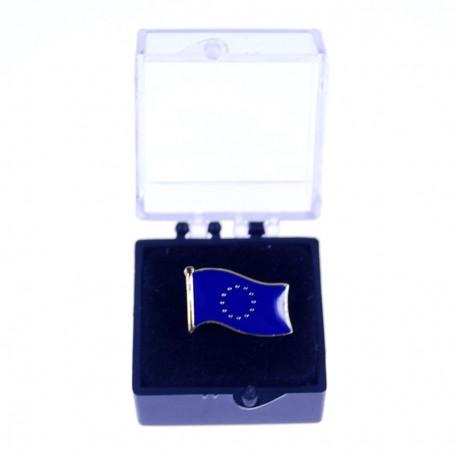 Pin, pin de la bandera de la Unión Europea en el caso