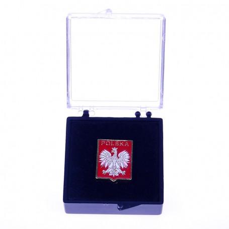 Przypinka, pin Godło Polski w etui