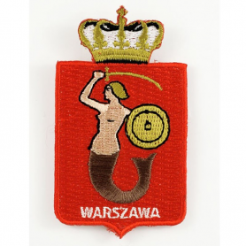 Embroidery patch coat of arms Warsaw
