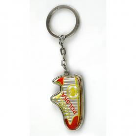 Porte-clés en métal, chaussure de football