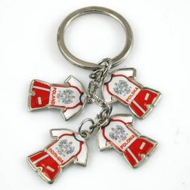 Schlüsselanhänger aus Metall, 4 Fußballhemden