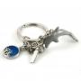 Porte-clés en métal dauphin - charmes a'la