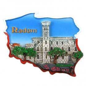 Fridge magnet, Poland shaped, Radom