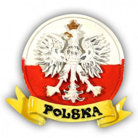 Imán glaseado Polonia