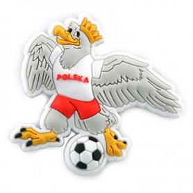 Gummimagnet - ein Adler mit einem Ball