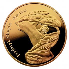 Souvenir coin - Chopin golden color