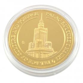 Souvenir coin Warsaw golden color
