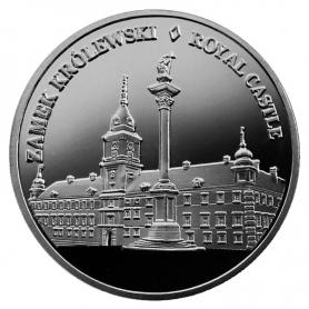 Souvenir coin Warsaw Royal Castle silver color