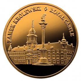 Souvenir coin Warsaw Royal Castle golden color