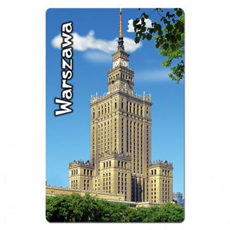Magnes na lodówkę z efektem 3D Warszawa Pałac Kultury pion