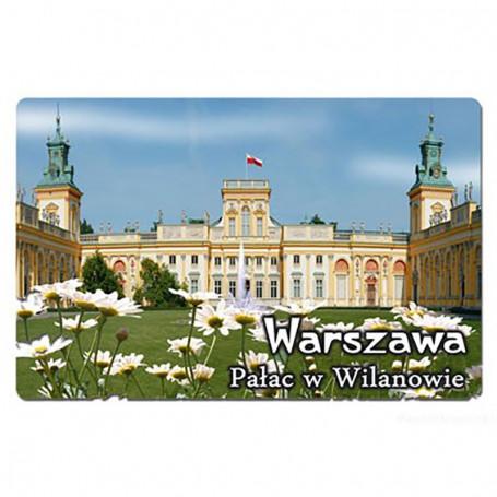 Imán con efecto 3D Varsovia Wilanów