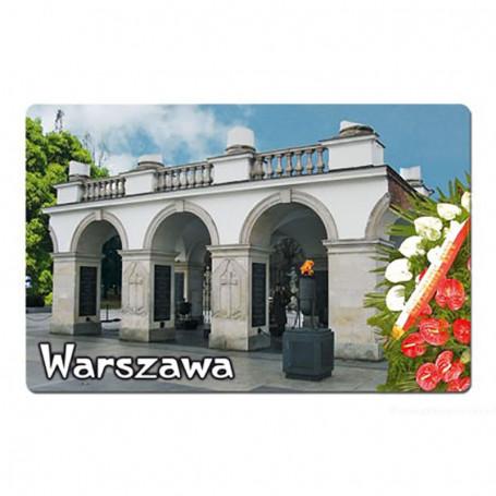 Aimant avec un effet 3D Varsovie Tombe du soldat inconnu