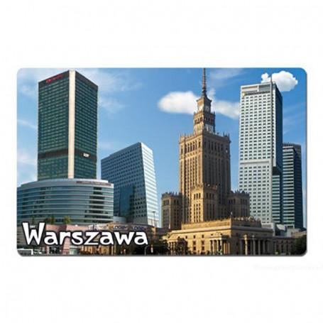 Aimant avec un effet 3D Panorama du Palais de la Culture de Varsovie