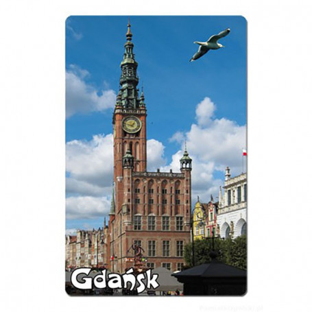 Imán con efecto 3D Gdańsk Ratusz