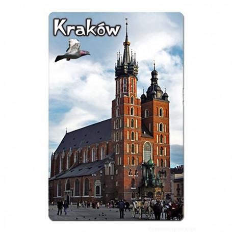 Magnes na lodówkę z efektem 3D Kraków kościół Mariacki