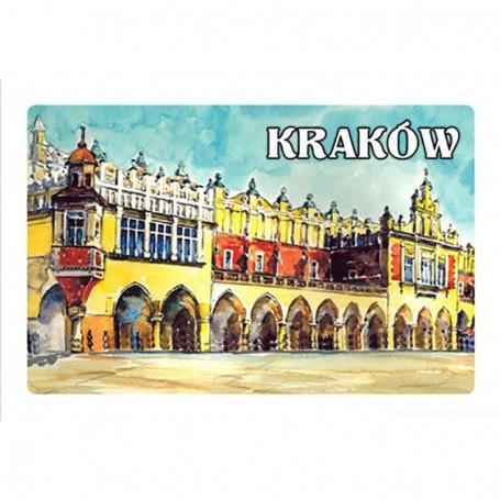 Aimant avec effet 3D Cracovie Image de la Halle aux draps