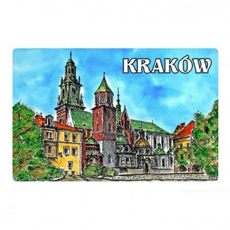 Magnes na lodówkę z efektem 3D Kraków obraz Wawel