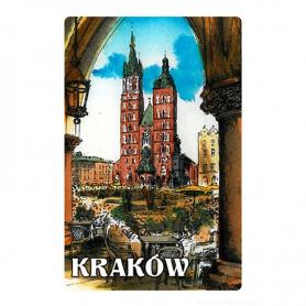 Magnes na lodówkę z efektem 3D Kraków obraz kościół Mariacki