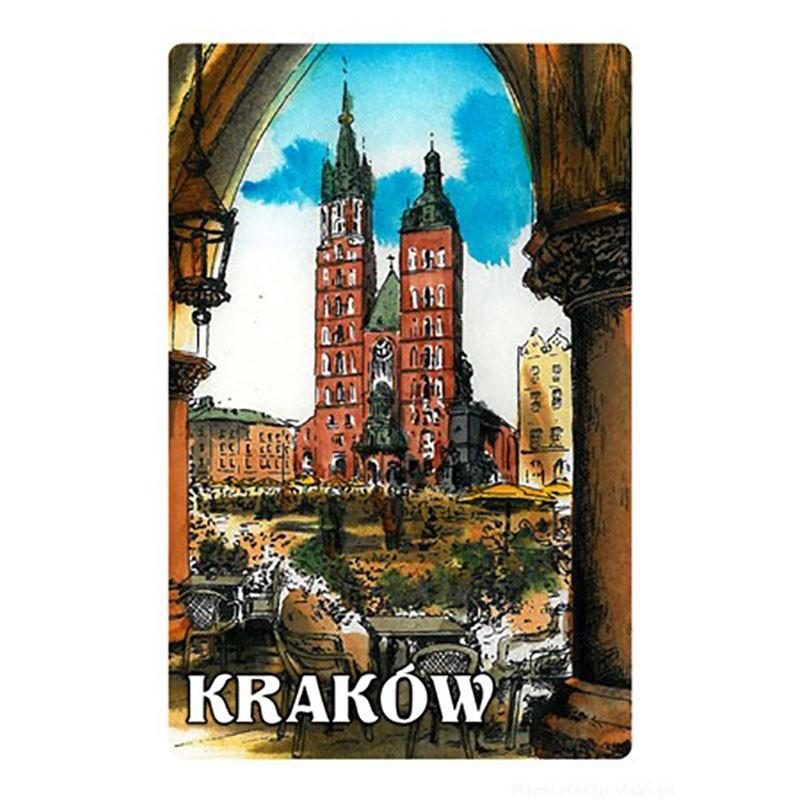 Magnes z efektem 3D Kraków obraz kościół Mariacki