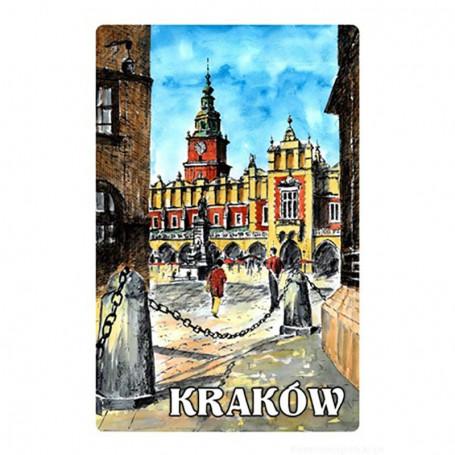 Aimant avec un effet 3D Cracovie image du marché