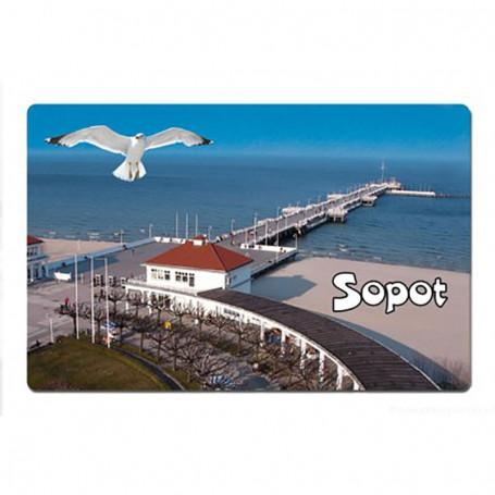 Imán con un efecto 3D Sopot Pier
