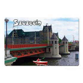 3D fridge magnet Szczecin bridge