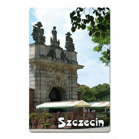 Imán con un efecto 3D Szczecin Gate