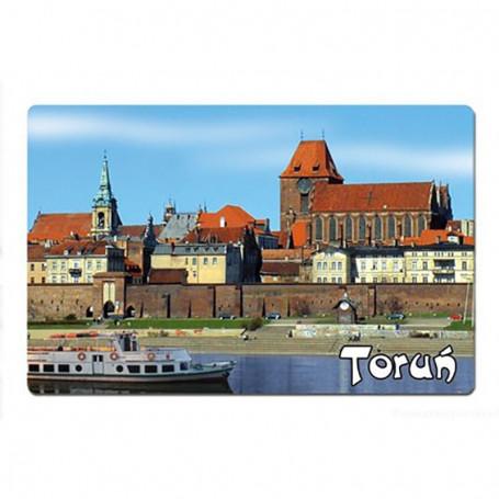 Imán con un efecto 3D Panorama Toruń