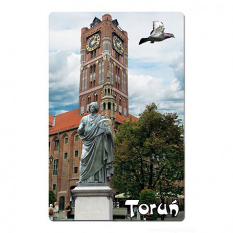 Imán con efecto 3D Toruń Ratusz
