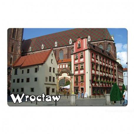 Un imán con efecto 3D de Wrocław Jaś i Małgosia