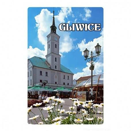 Imán con efecto 3D Ayuntamiento de Gliwice