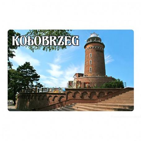 Imán con efecto 3D Faro de Kolobrzeg