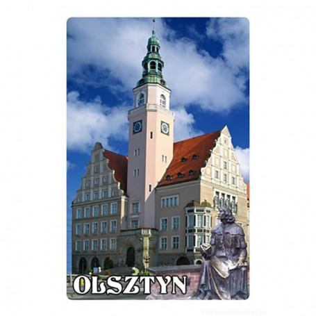 Magnet 3D-vaikutuksella Olsztynin kaupungintalo