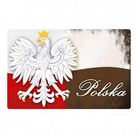 Imán 2D bandera de Polonia