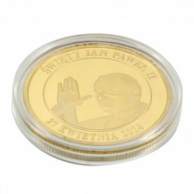 Souvenir coin John Paul II golden color