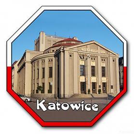 3D fridge magnet STOP Katowice Theatre