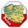 Aimant avec un effet 3D STOP Pologne, carte