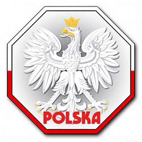 Imán con efecto 3D STOP Poland, Orzeł