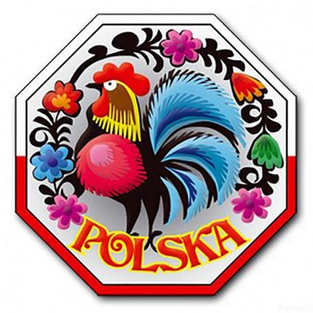 Magnes na lodówkę z efektem 3D STOP Polska, kogut