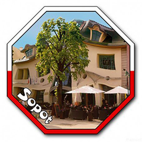 Aimant avec un effet 3D STOP Sopot Krzywy Dom