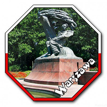 Aimant avec un effet 3D STOP Varsovie Chopin
