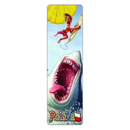 Marcador 3D Polonia, tiburón