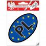 Autocollant Auto PL - EU (interne)