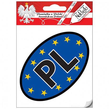 Naklejka Auto PL - UE (wewnętrzna)